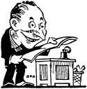 Businessman & Newspaper