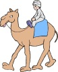 Boy Riding Camel