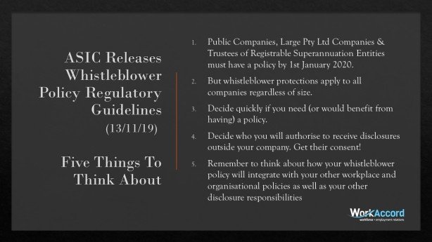 Whistleblower Policy Announcement